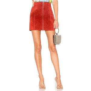 Blank NYC Redwood Suede Skirt